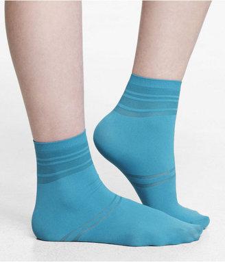 Express Striped Anklet Socks