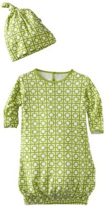 Kicky Pants KicKee Pants Baby-boys Newborn Layette Gown And Knot Hat Set