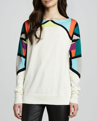 Nanette Lepore Fire Eater Bright-Top Sweater