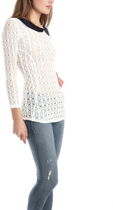 Smythe Crochet Peter Pan Top