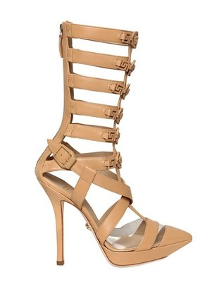 Versace 110mm Leather Gladiator Sandal Boots