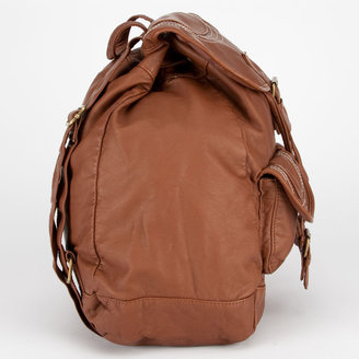 T-Shirt & Jeans Washed Faux Leather Backpack