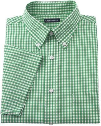 Croft & barrow ® classic-fit gingham button-down collar dress shirt - men