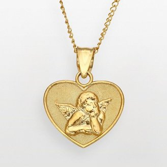Angel Heart 14k Gold Over Silver Pendant