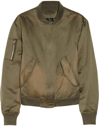 Theyskens' Theory Jilla linen and cotton-blend bomber jacket