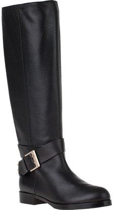 Chloé CH19044 Riding Boot Black Leather