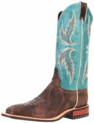 """Justin Boots Women's U.S.A. Bent Rail Collection 13"""" Boot Wide Square Double Stitch Toe Performance Rubber Outsole"""