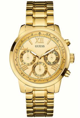 GUESS Women's Gold-Tone Stainless Steel Bracelet Watch 42mm U0330L1 $125 thestylecure.com