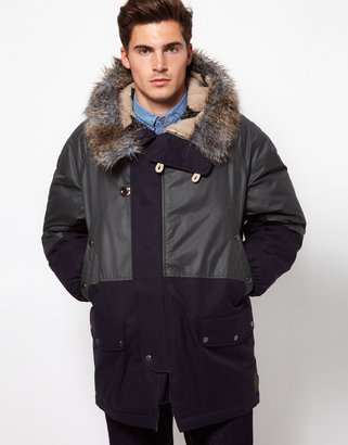 Paul Smith Parka with Faux Fur