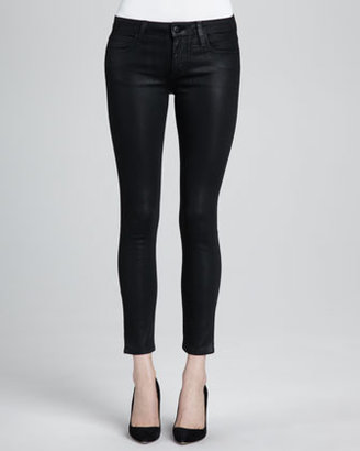 Joe's Jeans Coated Skinny Ankle Jeans, Jet