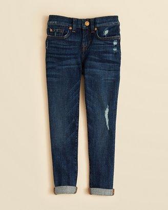 7 For All Mankind Girls' Josefina Dark Wash Boyfriend Jeans - Sizes 7-14