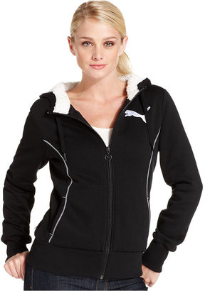 Puma Jacket, Zip-Up Logo Hoodie