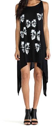 Romwe Butterflies Print Asymmetric Loose Dress