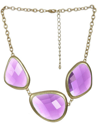 Arden B Tri Stone Short Necklace