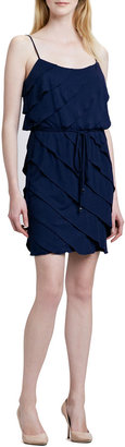 Laundry by Shelli Segal Ruffled Tiered Belted Dress