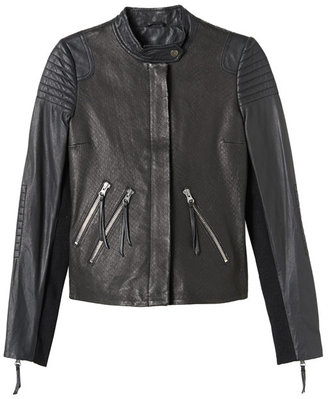 Rebecca Taylor Textured Leather Jacket
