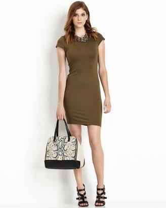 Alice + Olivia Tiffany Easy Dress, Army