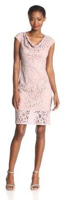 Adrianna Papell Women's Illusion-Hem Dress with Diamond Cutout Back