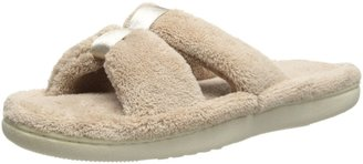 Isotoner Women's Microterry Satin X-Slide