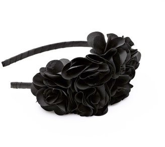 Karina Large Black Side Flower Headband
