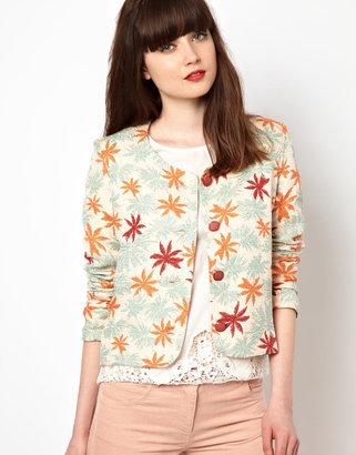 Sessun Palm Print Jacket