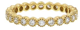 Sethi Couture Diamond Bezel Band Ring - Yellow Gold
