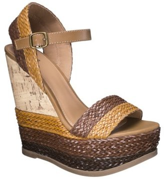 Mossimo Women's Pemella Demi Wedge with Patterned Bottom - Cognac