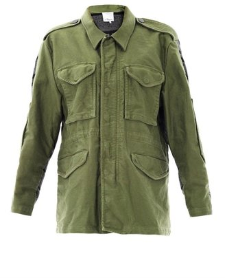 3.1 Phillip Lim Knitted panel parka