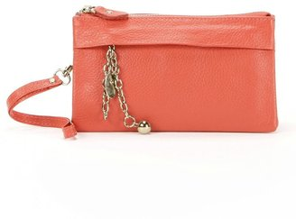 Amerileather candace leather clutch