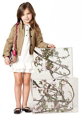 Burberry Little Girl's Cropped Gabardine Jacket