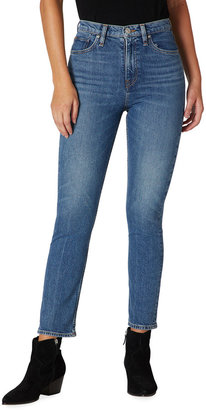 Hudson Holly High-Rise Cropped Straight-Leg Jeans