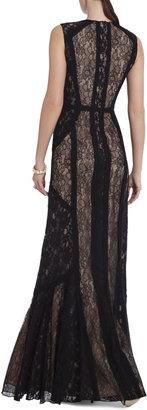 BCBGMAXAZRIA Bernadette Floor-Length Sleeveless Dress