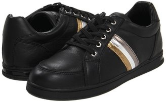Dolce & Gabbana Leather Laced City Sport (Toddler/Youth) (Black) - Footwear