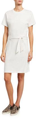 Vince Short-Sleeve Waist-Tie Dress