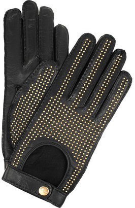 Burberry Shoes & Accessories Studded leather gloves