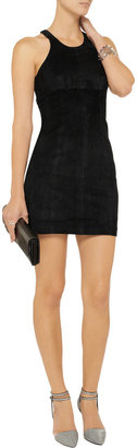 Alexander Wang Suede racer-back mini dress