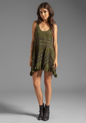 Free People Lace and Voile Trapeze Dress