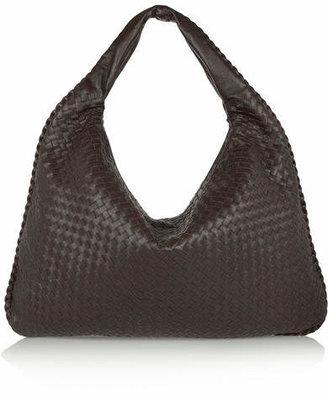 Bottega Veneta - Maxi Veneta Intrecciato Leather Shoulder Bag - Dark brown $3,000 thestylecure.com