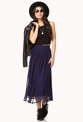 Forever 21 Chiffon Midi Skirt