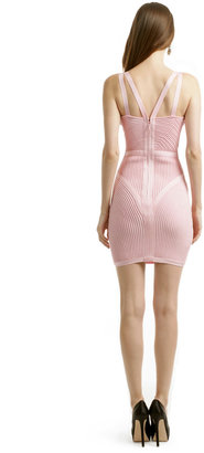 Herve Leger Pink Party Punch Dress