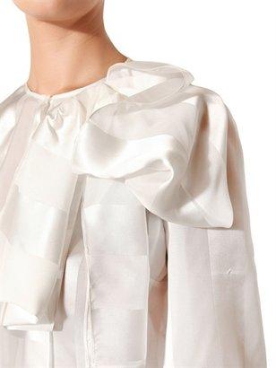 Normaluisa Silk Satin & Voilè Shirt