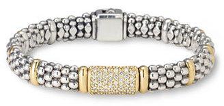 Women's Lagos Pave Diamond Bracelet $2,750 thestylecure.com