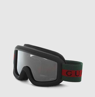 Gucci Kid's Ski Goggles With Signature Web Detail