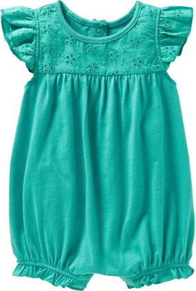 Old Navy Eyelet-Trim Bubble Rompers for Baby