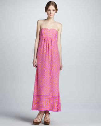 Alice & Trixie Tianna Geometric-Print Maxi Dress