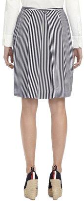Brooks Brothers Inverted Back Pleat Skirt