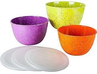 Zak Designs Confetti 6-pc. Mixing Bowl Set with Lids