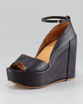 Chloé Ankle-Wrap Platform Wedge