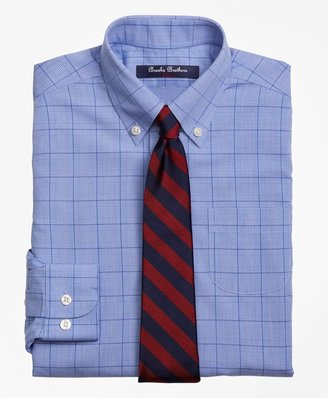 Brooks Brothers Boys Non-Iron Supima Cotton Broadcloth Plaid Dress Shirt