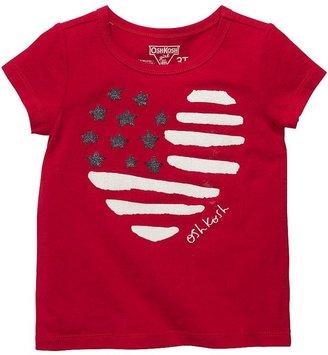 Osh Kosh heart flag tee - toddler